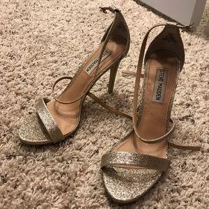 Steve Madden Glitter Gold Heels